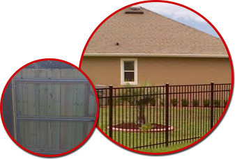 Wooden and Aluminum Fences